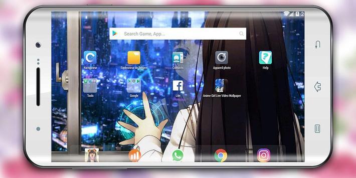Wallpaper Cyberpunk Girl Anime poster