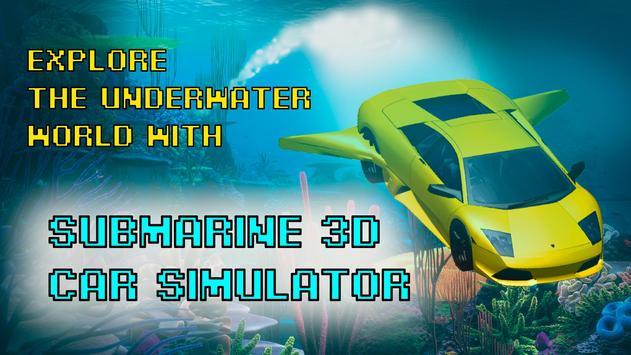 Submarine Car 3D AR Simulator poster