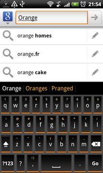 Orange Slate HD Keyboard Theme poster