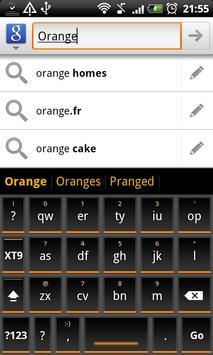 Orange Slate HD Keyboard Theme apk screenshot