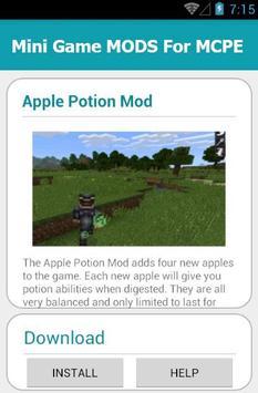 Mini Game MODS For MCPE screenshot 5