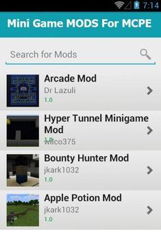 Mini Game MODS For MCPE apk screenshot