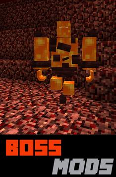 BOSS MODS FOR MINECRAFT poster