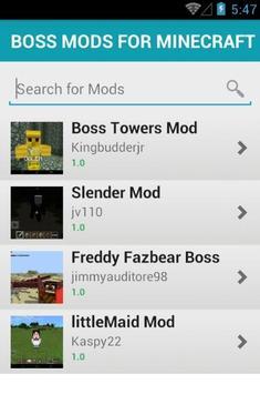BOSS MODS FOR MINECRAFT screenshot 1