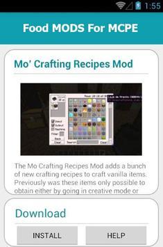 Food MODS For MCPE apk screenshot