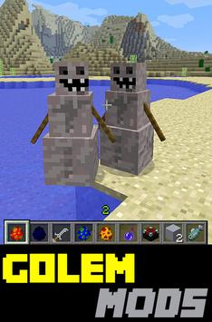 Golem MODS For MCPE poster