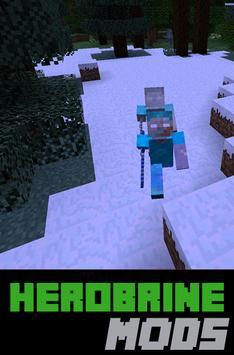 Herobrine MODS For MCPE poster
