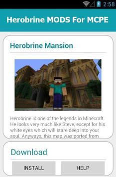Herobrine MODS For MCPE apk screenshot