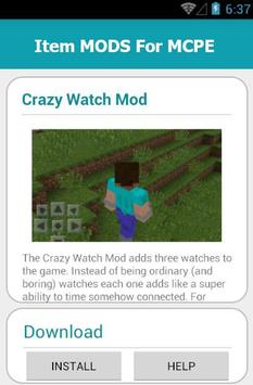 Item MODS For MCPE screenshot 11
