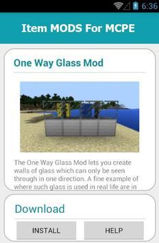 Item MODS For MCPE screenshot 4