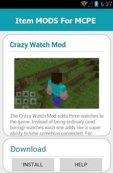 Item MODS For MCPE screenshot 5