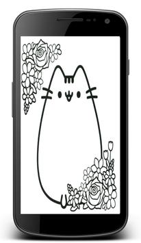 Pusheen Coloring Pages poster