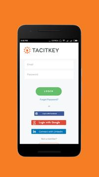 TacitKey - Knowledge sharing platform poster