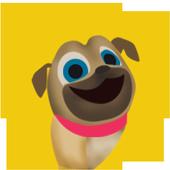 puppy racing happy dog icon