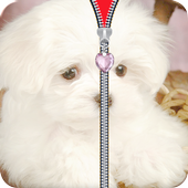 Puppy Zipper Lock Screen icon