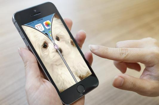 Puppy Zipper Lock Screen apk screenshot