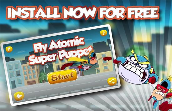 Fly Atomic Super puppet poster