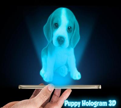 Puppy 3D Hologram Joke poster