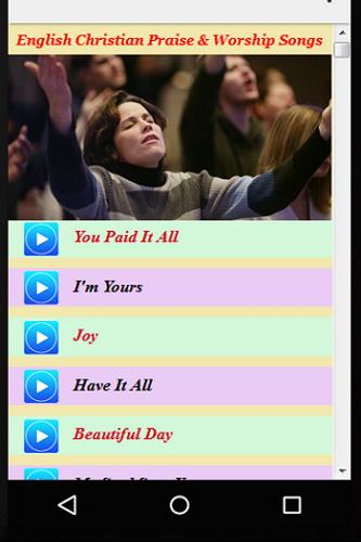 English christian songs for android apk download.