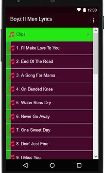 Boyz II Men Lyrics MP3 for Android - APK Download