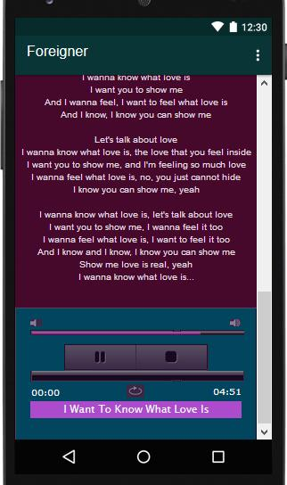Foreigner Lyrics MP3 for Android - APK Download