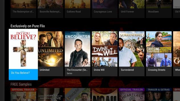 PureFlix (Android TV) apk screenshot
