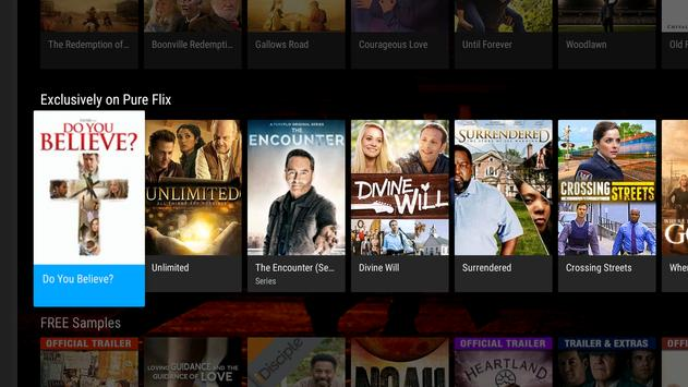 PureFlix (Android TV) apk screenshot