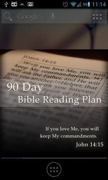 Bible Reading Plan - 90 Day poster