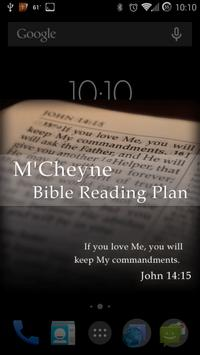 Bible Reading Plan - M'Cheyne poster