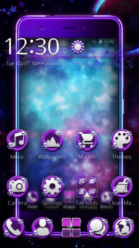 Purple galaxy star theme for android apk download purple galaxy star theme altavistaventures Gallery