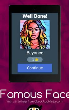 Famous Faces Quiz apk screenshot