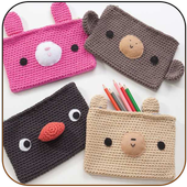 Knitting purses and bags icon