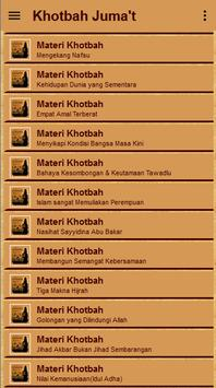 Materi Khutbah Jumat Lengkap apk screenshot