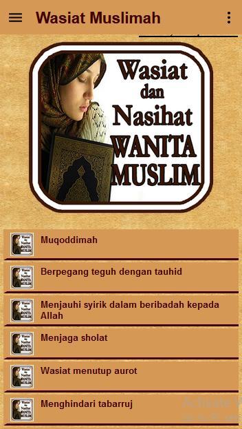 Nasihat Wanita Dunia Islam poster