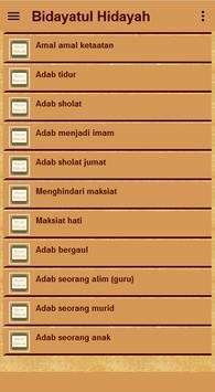 Kitab Bidayatul Hidayah screenshot 2