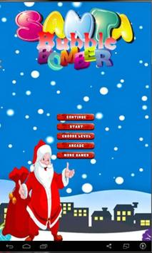 super santa gift bubble poster