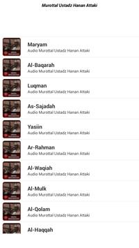 Murottal Hanan Attaki Mp3 Lengkap screenshot 5