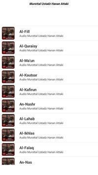 Murottal Hanan Attaki Mp3 Lengkap screenshot 2