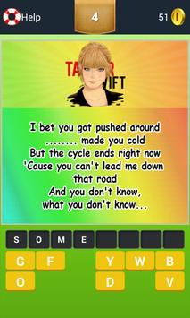 Taylor Swift Quiz Guess Song apk screenshot
