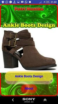Ankle Boots Design poster