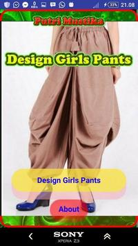 Girl Trousers Design poster
