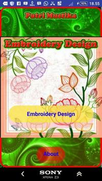 Embroidery Design poster