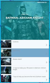 Guide for Batman Arkham poster