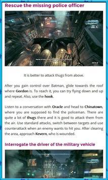 Guide for Batman Arkham screenshot 1