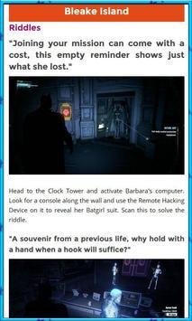 Guide for Batman Arkham screenshot 4