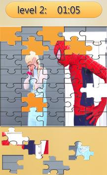 Puzzle super-heroes and princesse poster