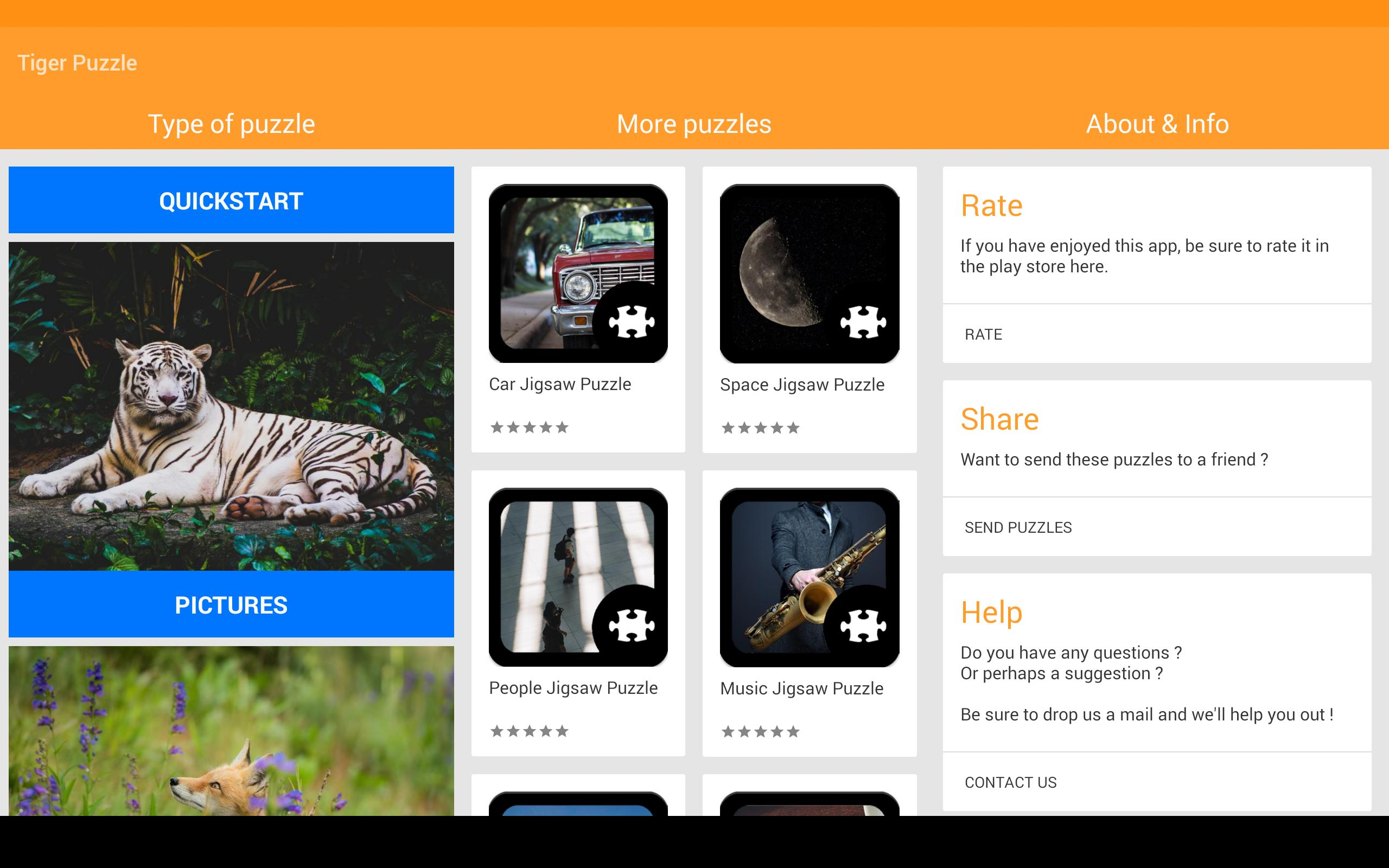 Tiger Jigsaw Puzzle for Android - APK Download