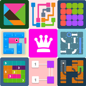 Puzzledom - classic puzzles all in one आइकन
