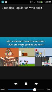3 Riddles Popular on  Who did it? Can you Solve it screenshot 1