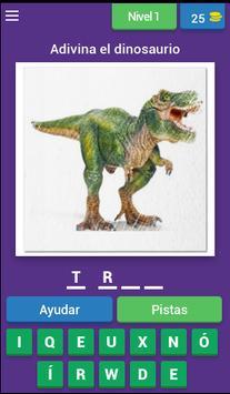 Nombres de dinosaurios poster